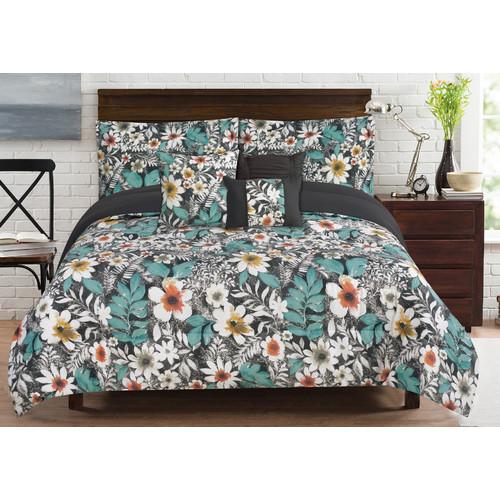 Bloomfield 6 Piece Comforter Set Queen Walmart Com
