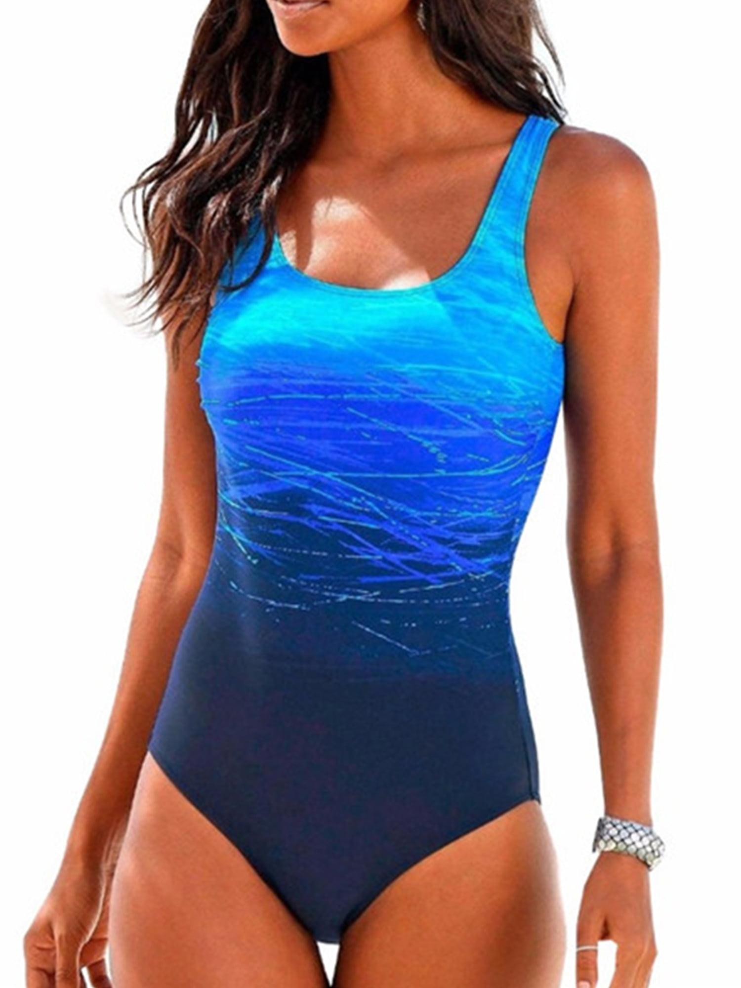 Womens Swimming Costume Padded Monokini Swimsuit Swimwear Push Up Bikini Bathing