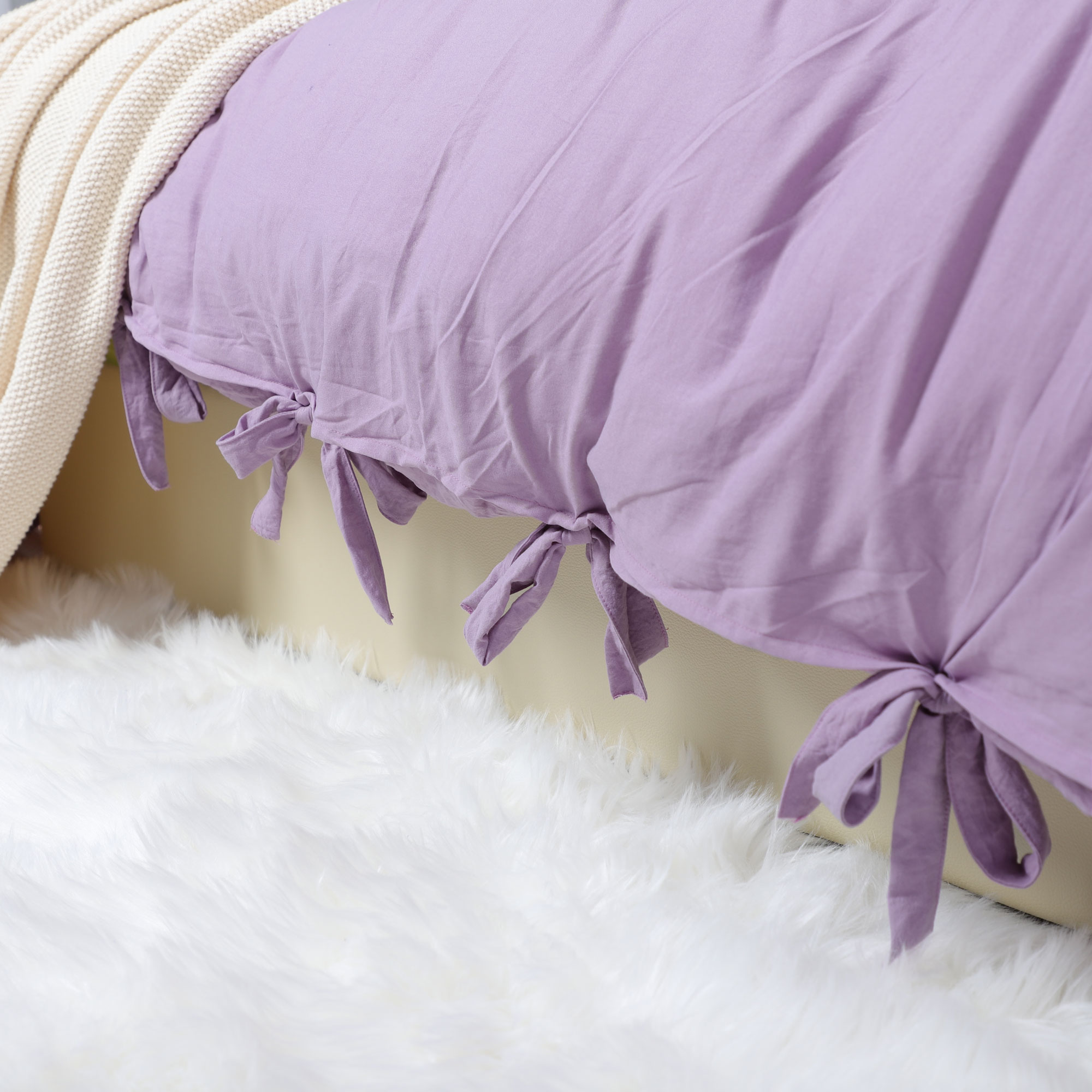 Duvet Cover And Shams Egyptian Comfort 1800 Count Bedding Set Light Purple Queen - image 1 of 8