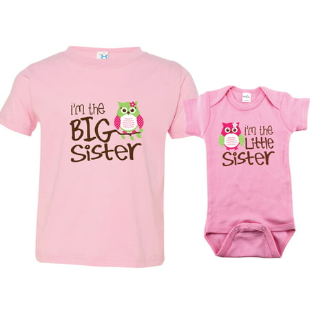 Nursery Decals and More Brand: Owl I'm the Big Sister, Owl I'm the Little Sister, Includes 12-18 mo and 0-3 mo (Halloween 5 Baby I'm Yours)