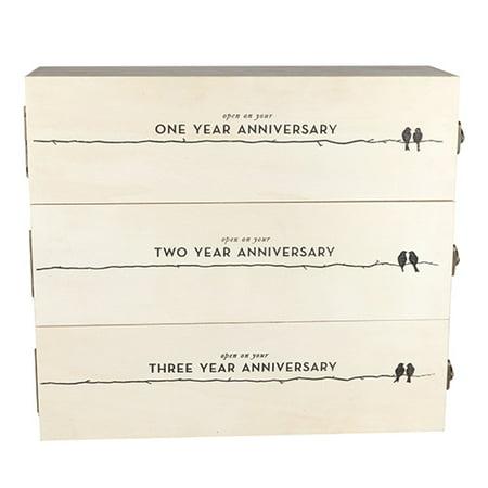 Wooden Wine Box (Boulevard Newlywed's Anniversary Wooden Wine Box by Twine)