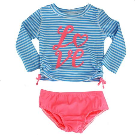 45a7299d95 OshKosh - OshKosh Love LS Rash Guard Set 2 Piece Swim Suit Orange 5 -  Walmart.com