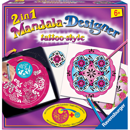 Ravensburger 2-in-1 Mandala Designer, Tattoo Style