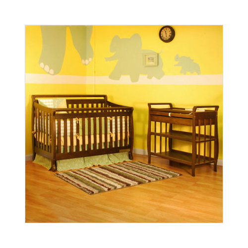 AFG Furniture Athena Amy Two Piece Convertible Crib Set in Espresso