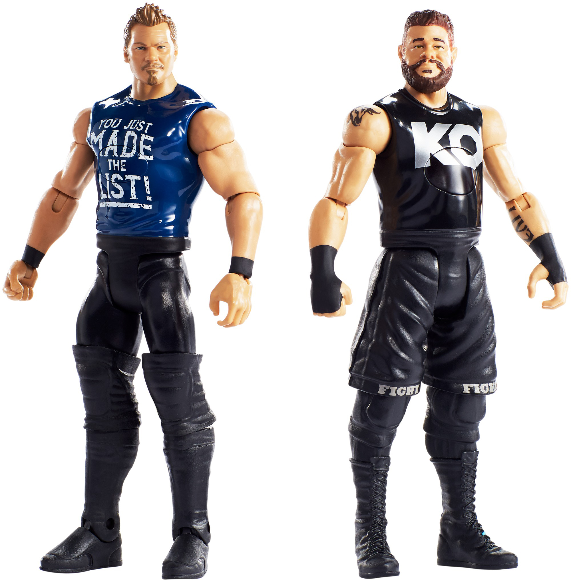 WWE Tough Talkers Total Tag Team Kevin Owens & Chris Jericho 2-Pack by Mattel