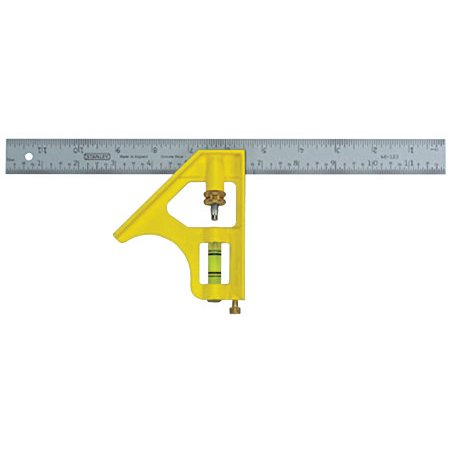 Stanley Premium Die Cast Handle Combination Square  12  30Cm
