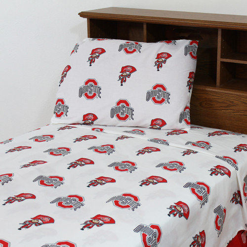 College Covers NCAA Ohio State Printed Sheet Set