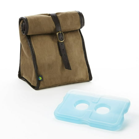 Fit Fresh Classic Roll Top Insulated Lunch Bag Light Brown 3005ff342