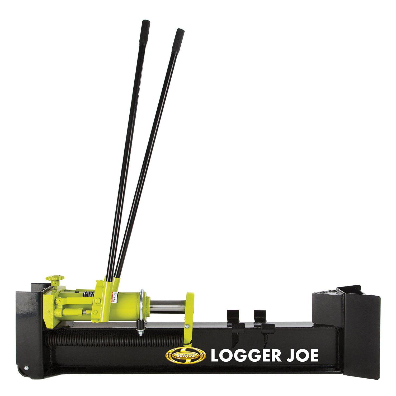 Sun Joe Logger Joe 10-Ton Hydraulic Manual Steel Portable Log Splitter | LJ10M