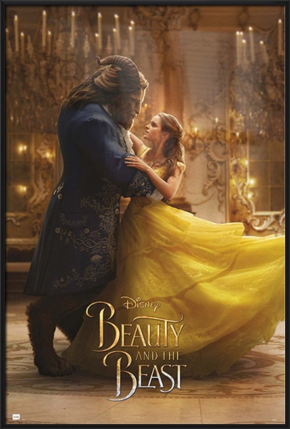"Beauty And The Beast Movie Poster   Print (Belle & The Beast Dancing) (Size: 24"" x 36"") by"
