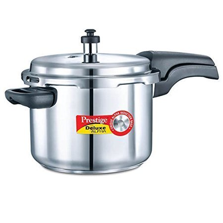 Prestige 6.5L Alpha Deluxe Induction Base Stainless Steel Pressure Cooker,