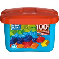 Mega Bloks Mini Bulk Small Tub, Multi-Colored with 100-Pieces