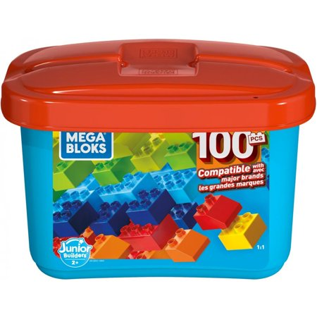 Mega Bloks Mini Bulk Small Tub, Multi-Colored with 100-Pieces