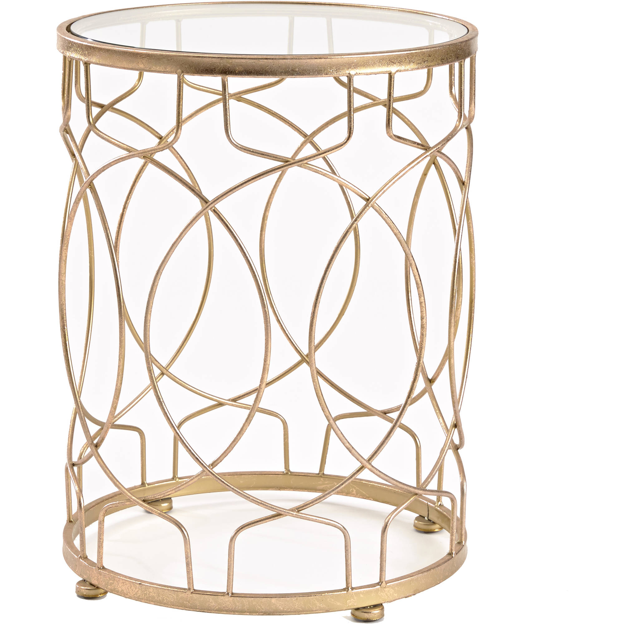 Inner Space Loop Side Table, Gold by Inner Space Luxury Products