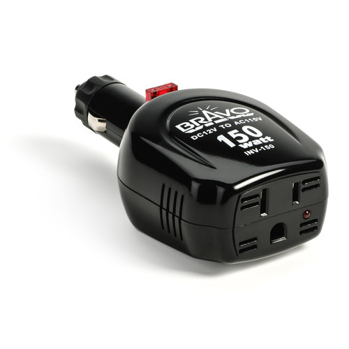 Bravo View INV-150 - 80-Watt Power Inverter (150 Watt Surge)