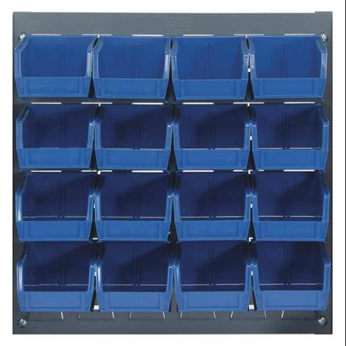 QUANTUM STORAGE SYSTEMS QLP-1819-210-16BL Louvered Bench Rack, 18 x 6 x 19 In