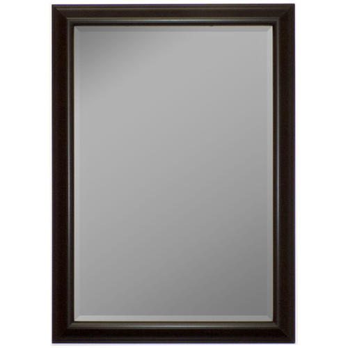 Second Look Mirrors Glossy Silver Smoked Black Wall Mirror by Second Look Mirrors