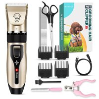 Dog Grooming Clippers Pet Dog Shaver Grooming Hair Clipper Rechargeable Low Noise Cordless Dog Cat Rabbit Hair Trimmer Cutter Kit