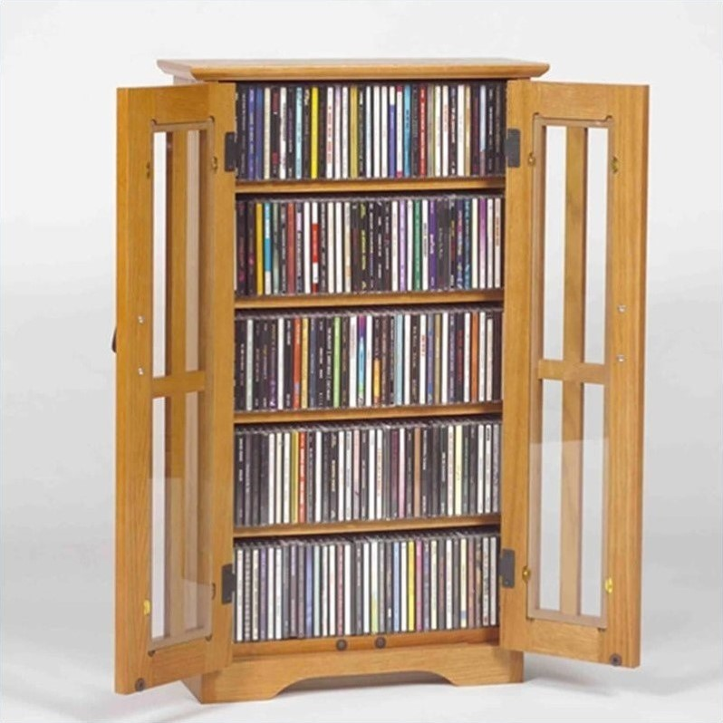 Leslie Dame Wall Hanging Media Cabinet in Oak by Leslie Dame