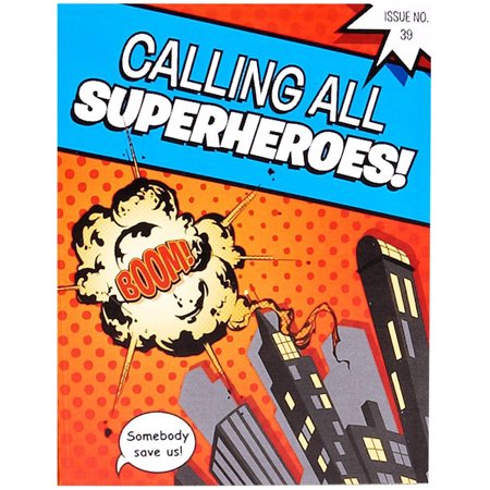 Superhero Comics Party Supplies 16 Pack Invitations](Superhero Party Invitations)