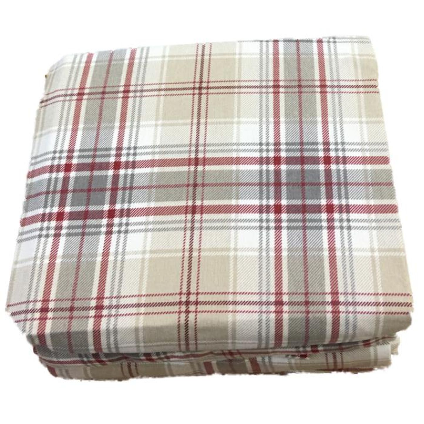 Cuddle Duds Tan U0026 Red Plaid Flannel Sheet Set Queen Bed Sheets Bedding