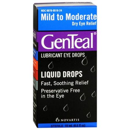 GenTeal Mild to Moderate Dry Eye Lubricant Drops 15 mL (Pack of 3)