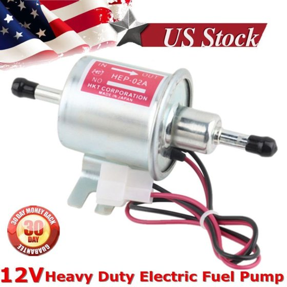 New Universal 12V Heavy Duty Gas Diesel Inline Low Pressure Electric Fuel  Pump
