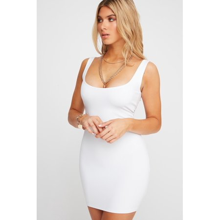 Urban Planet Women's Basic Scoop Neck Sleeveless Mini Dress - image 5 de 8