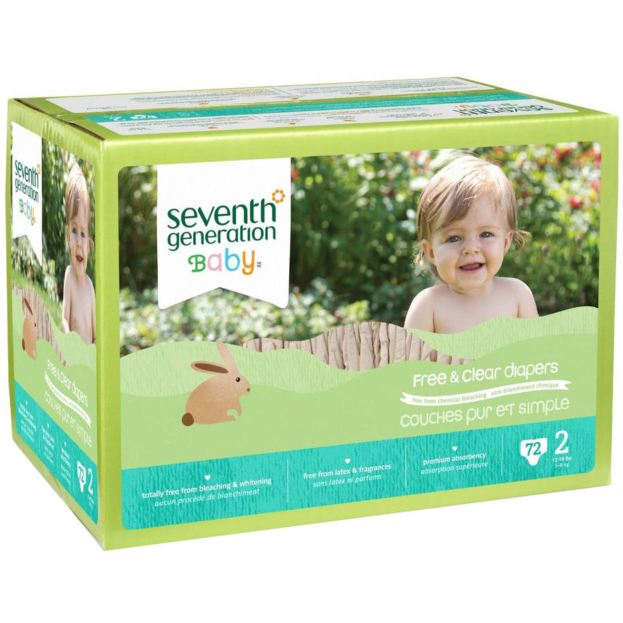 Seventh Generation Baby Free & Clear Diapers (Choose Your Size)