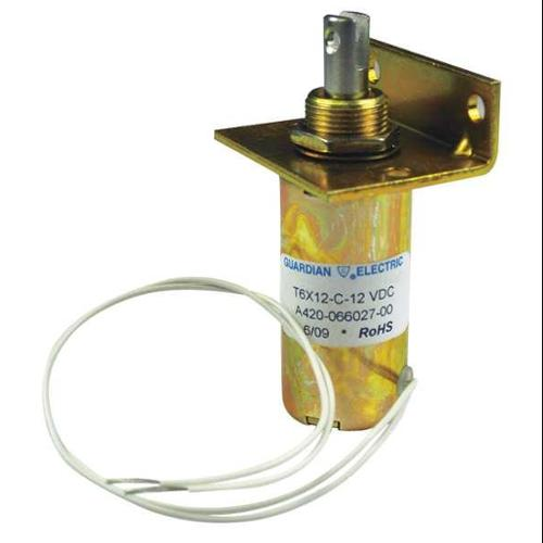 GUARDIAN ELECTRIC T6X12-C-24D Solenoid,Tubular,24DC,198mA,121 Ohms