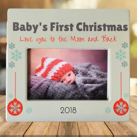 Babys First Christmas 2018 Baby Picture Frame I Love You To The