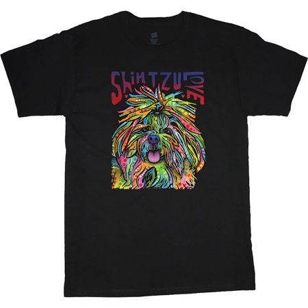 Mens Graphic Tees Shih Tzu T-shirt Decked-Out-Duds Mens Clothing