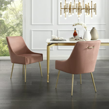Donati Blush Velvet Dining Chair Set Of 2