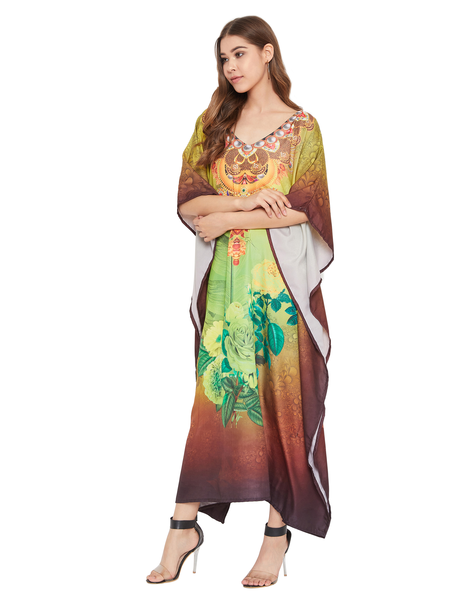 Details about  /Fsshion Women New African embroidered Maxi Dress Loose Party  Clothes Kaftan