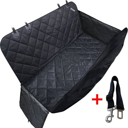 Travel Inspira Pet Seat Cover for Cars - Black, WaterProof & Hammock Convertible