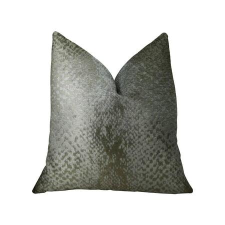 Plutus Hidden World Silver Handmade Throw Pillow, Double