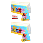 Sesame Street Elmo Birthday Plastic Table Cover (2 Pack), 54 x 96 Inches