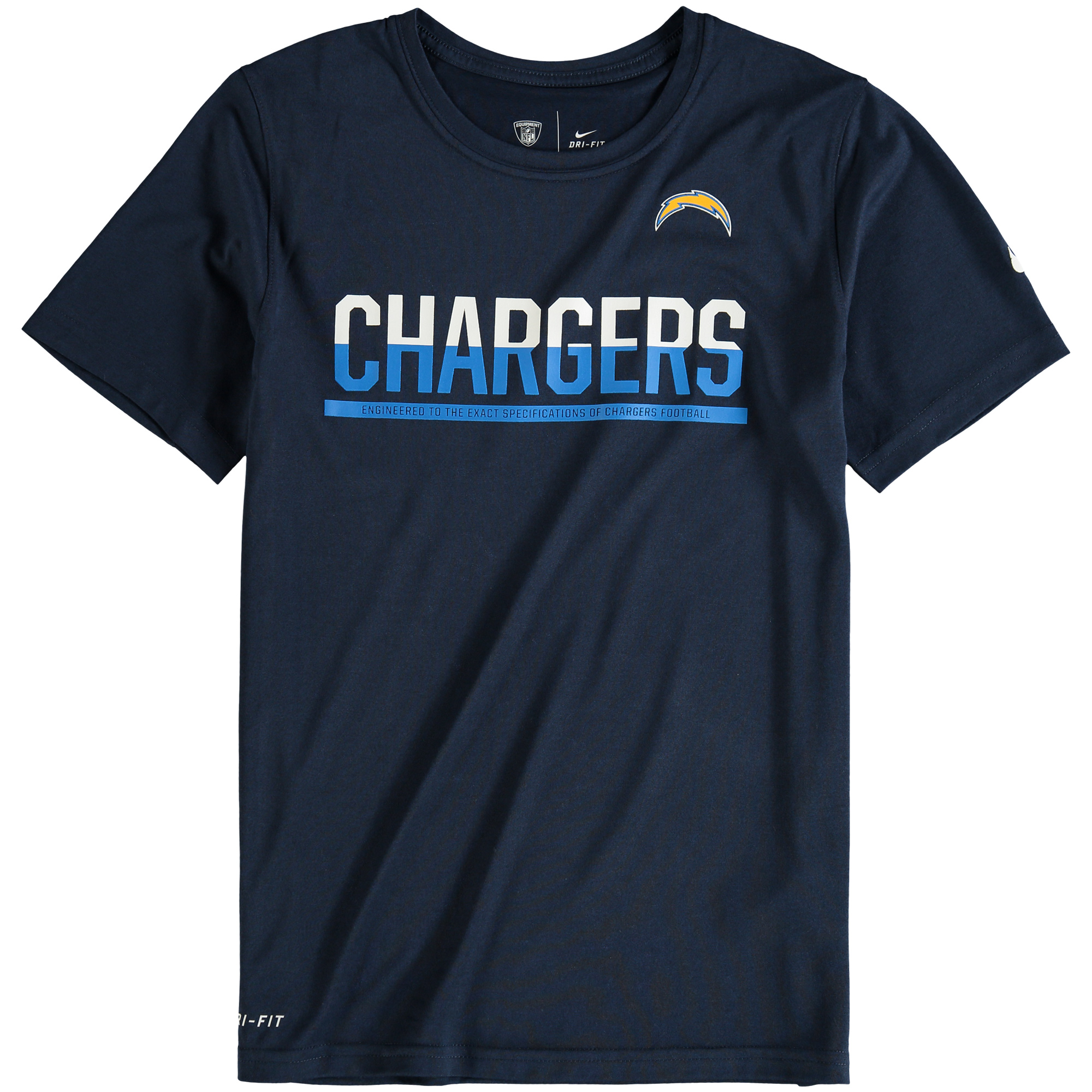 Los Angeles Chargers Nike Youth Team Practice Performance T-Shirt - Navy