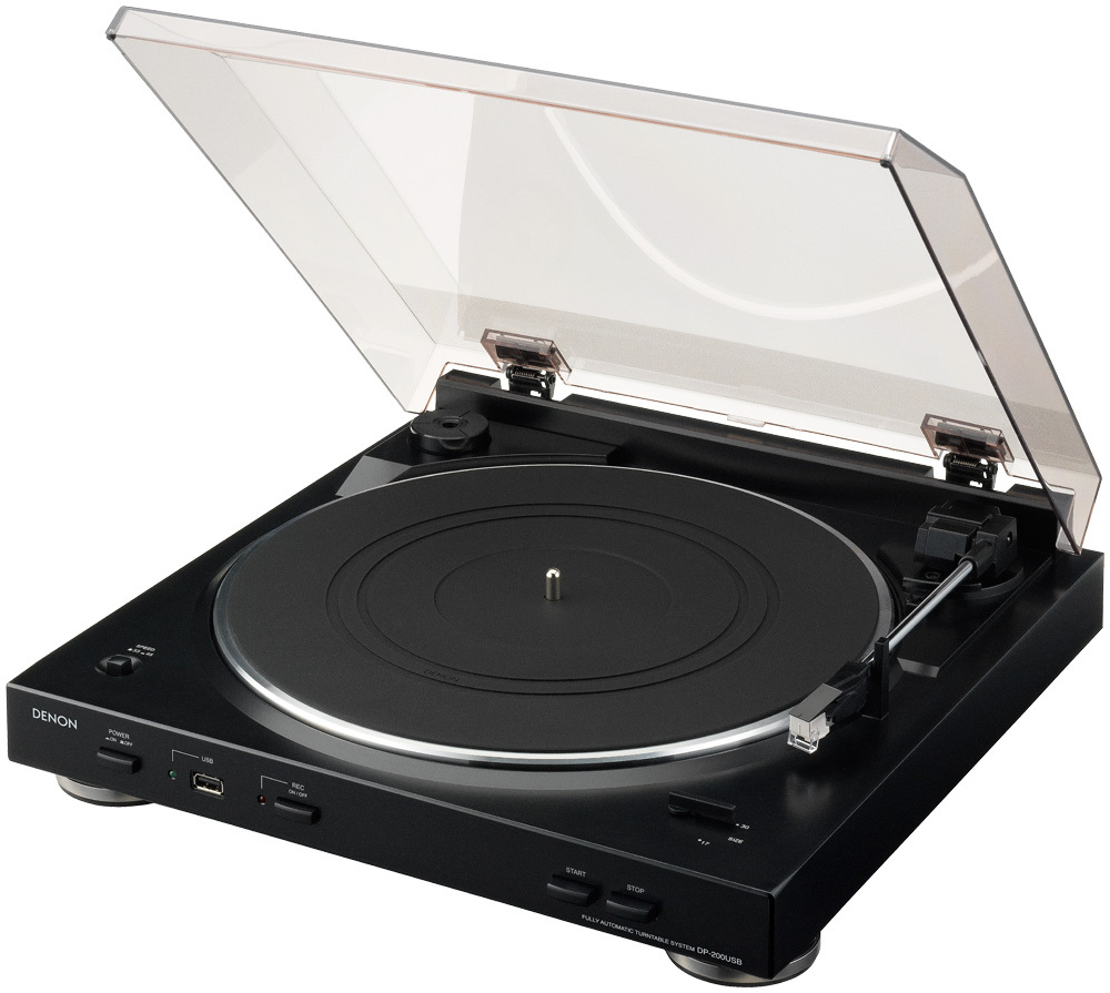 Denon DP200USB Fully Automatic Turntable with MP3 Encoder by Denon