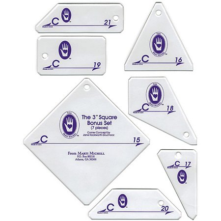 - Perfect Patchwork Template, Set C , Bonus Complement Set 7 per package