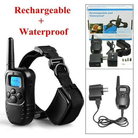 300M vibrationcollar Rechargeable LCD Electric Shock E-Collar Training Remote Control