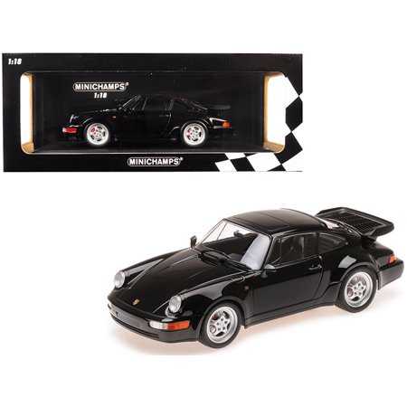 1990 Porsche 911 Turbo Black Limited Edition to 504 pieces Worldwide 1/18 Diecast Model Car by
