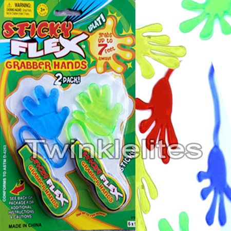 Bulk Carnival Prizes (24 BIG Sticky Hands Birthday Party Favors Toy Carnival Prizes Squishy Slap)
