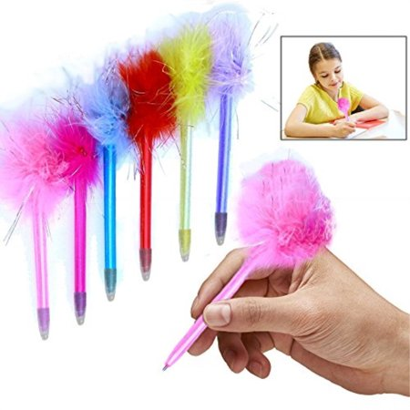 Toy Cubby Marabou Colorful Feathers Pens - 1