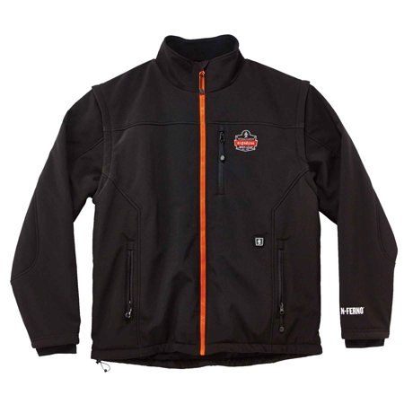6490J 2XL Black Outer Layer Heated Jacket (jacket only) - Only Outerwear