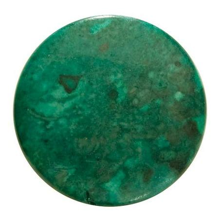 Jasper Disc - Green Malachite Jasper Focal Beads (Dyed)  Disc 25mm (4)