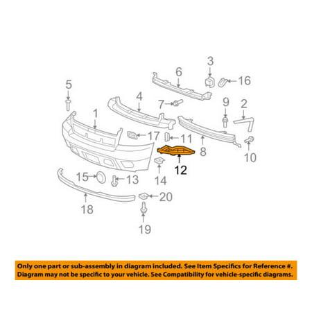 Chevrolet GM OEM 07-14 Suburban 1500 Front Bumper-Outer Filler Right 21996231 K2500 Suburban Bumper Filler