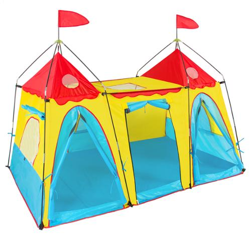 Kid's Play Tent Big Girl Indoor Outdoor Fantasy Palace Castle Easy Set Up House