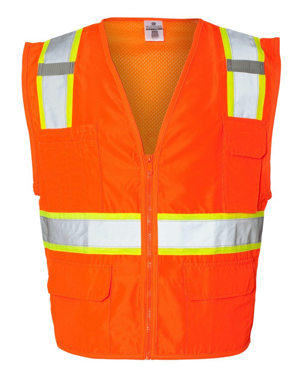 ML Kishigo Solid Front Vest with Mesh Back