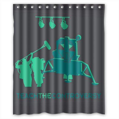 Ganma Green Intelligent Robot Shower Curtain Polyester Fabric Bathroom 60x72 Inches
